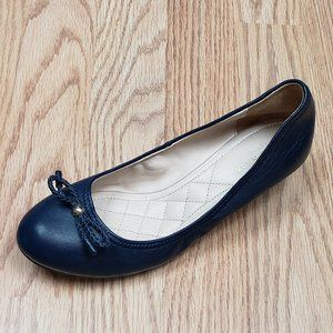 Cole Haan Grand OS Navy Faux Wood Wedge Ballet 6.5